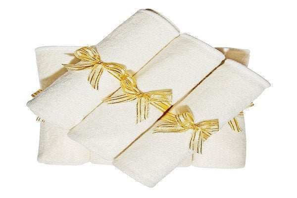 Bamboo Baby Wash Cloths, Organic, Luxury (6pack 27cm) Best for Reusable Baby Wip - SustainTheFuture - 6