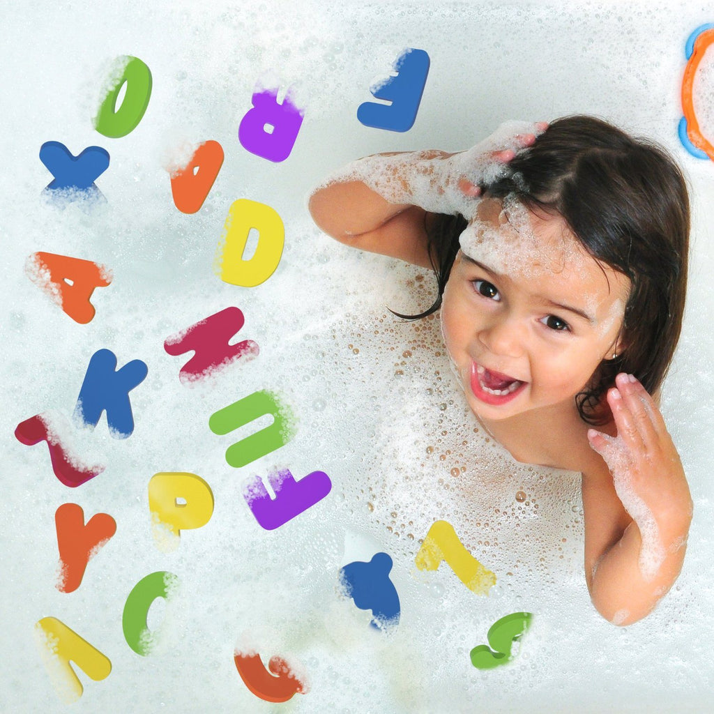 Bath Letters And Numbers With Bath Toy Organizer. The Best Educational Bath Toys - SustainTheFuture - 9