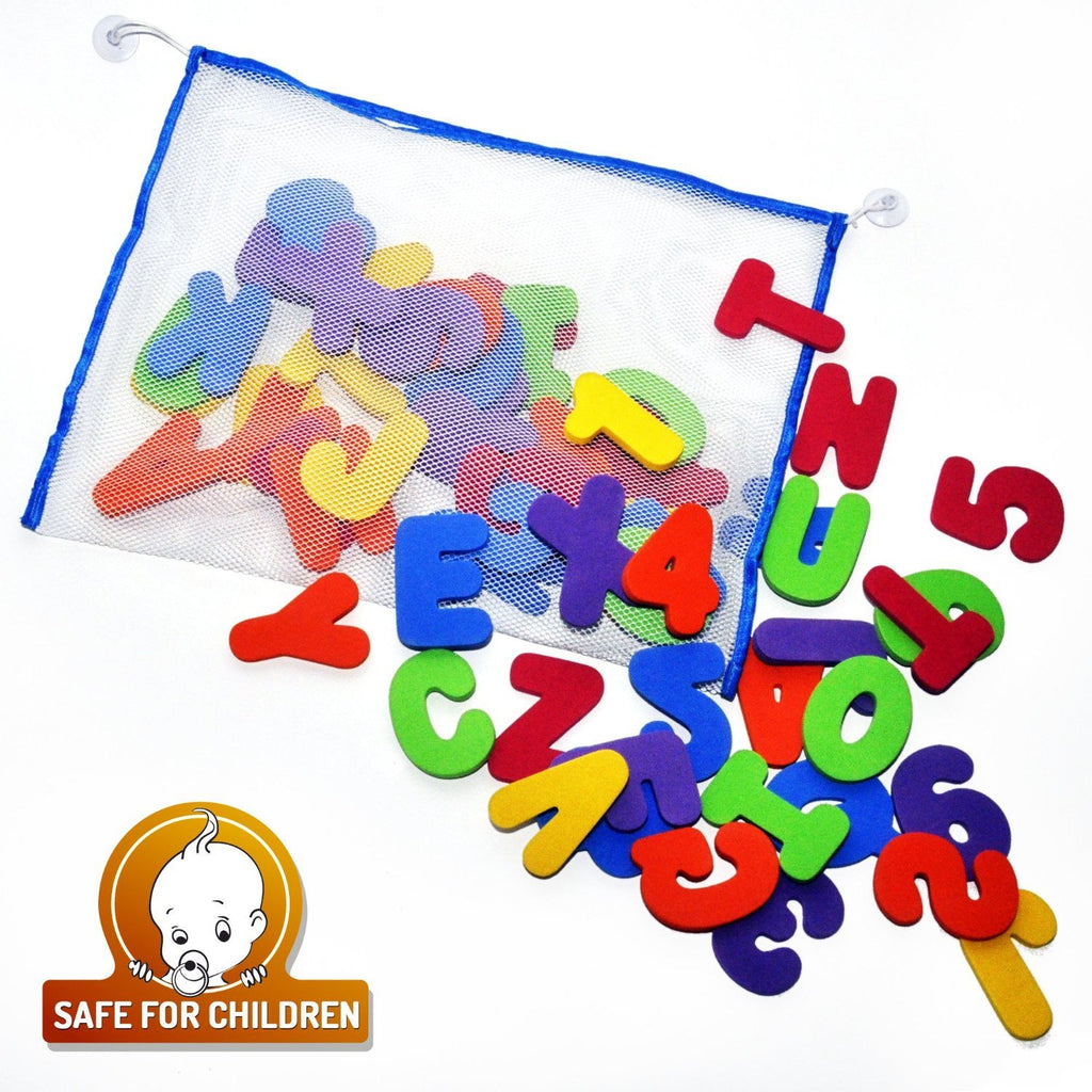 Bath Letters And Numbers With Bath Toy Organizer. The Best Educational Bath Toys - SustainTheFuture - 8