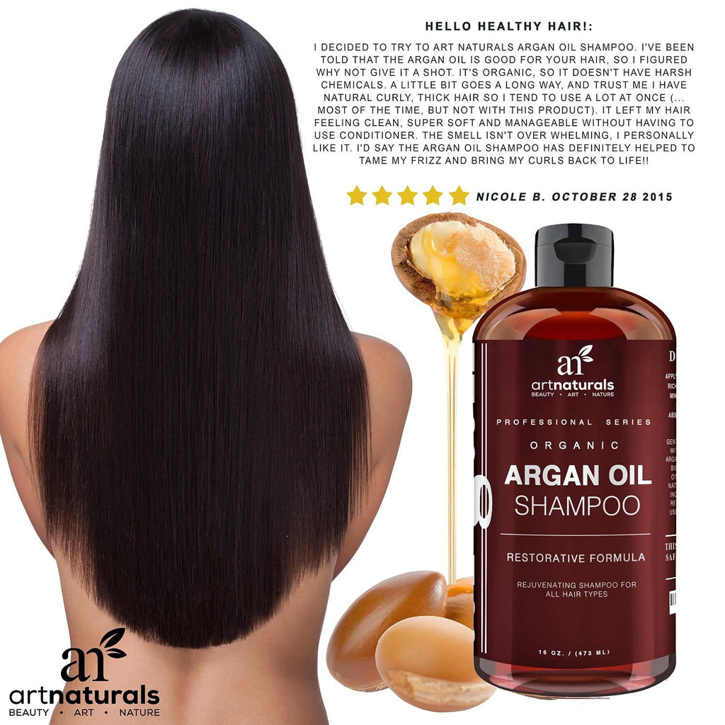 Art Naturals Organic Daily Argan Oil Shampoo 473ml - Best Moisturizing, Volumizi - SustainTheFuture - 2