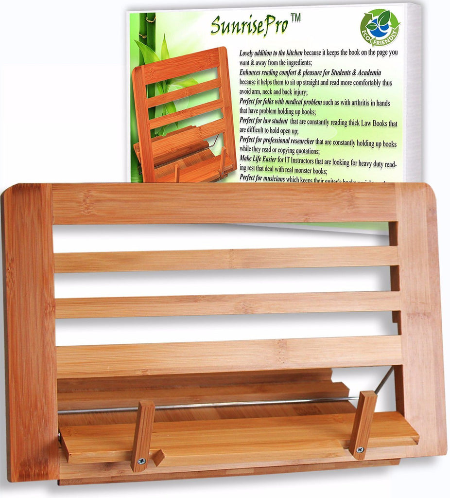 Eco Friendly | Premium Quality Bamboo Cookbook Stand | Perfect Reading Rest For - SustainTheFuture - 4
