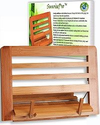 Eco Friendly | Premium Quality Bamboo Cookbook Stand | Perfect Reading Rest For - SustainTheFuture - 1