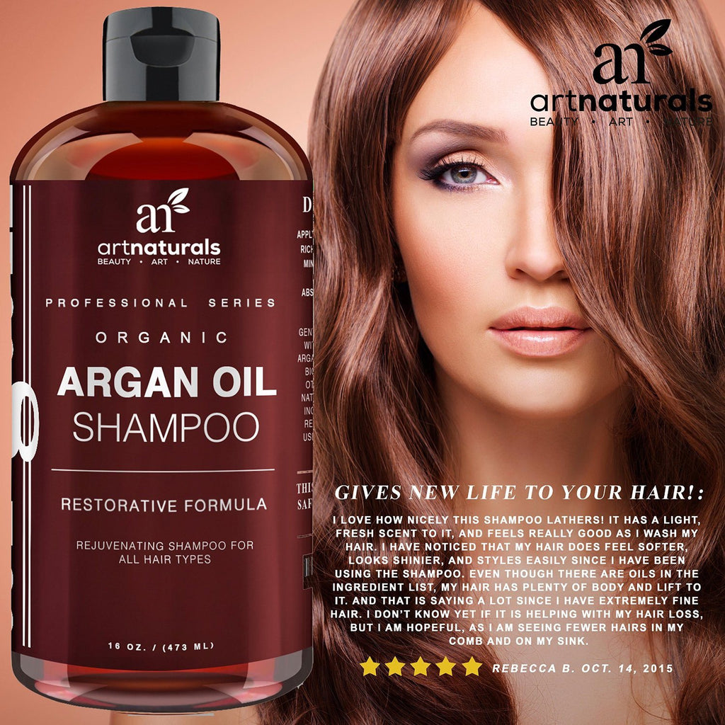 Art Naturals Organic Daily Argan Oil Shampoo 473ml - Best Moisturizing, Volumizi - SustainTheFuture - 8