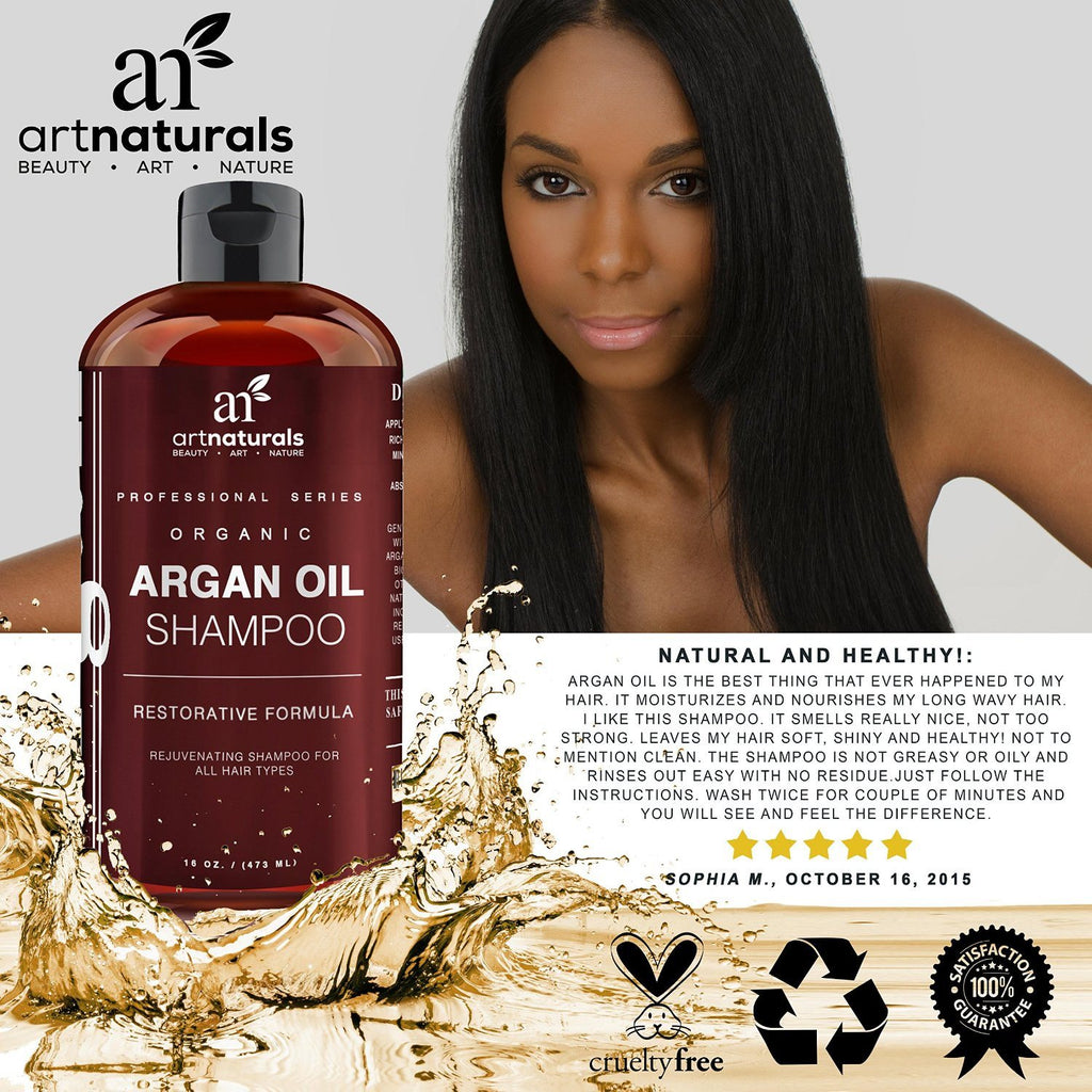 Art Naturals Organic Daily Argan Oil Shampoo 473ml - Best Moisturizing, Volumizi - SustainTheFuture - 7