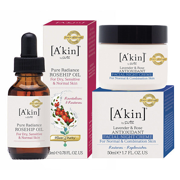 A'kin 24 Hour Radiance Kit - £7 saving. Help your skin to feel beautifully radiant all day - SustainTheFuture - 2