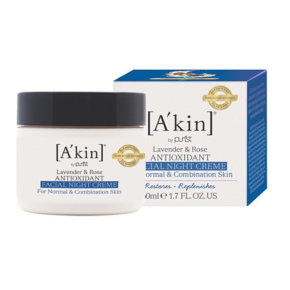 A'kin Lavender & Rose Repairing Anti-Oxidant Night Creme. Natural face moisturiser for nightly use - SustainTheFuture - 2