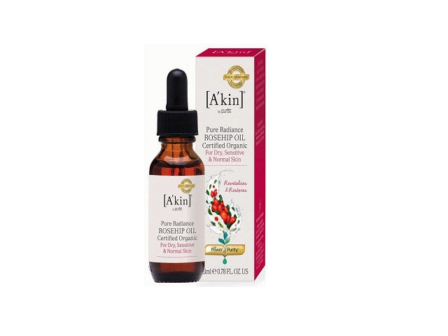 A'kin Pure Radiance Certified Organic Rosehip Oil. Improves the appearance of dull skin - SustainTheFuture - 1