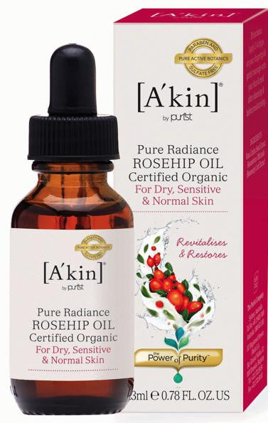 A'kin Pure Radiance Certified Organic Rosehip Oil. Improves the appearance of dull skin - SustainTheFuture - 2