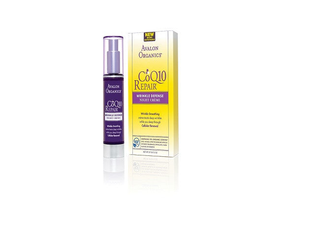 Avalon Organics CoQ10 Wrinkle Defence Night Crème. is an essential antioxidant - SustainTheFuture - 1