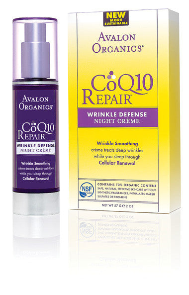 Avalon Organics CoQ10 Wrinkle Defence Night Crème. is an essential antioxidant - SustainTheFuture - 2