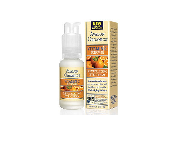 Avalon Organics Vitamin C Renewal - Revitalising Eye Cream. The eye area is always the first - SustainTheFuture - 1
