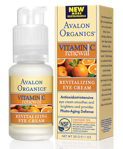 Avalon Organics Vitamin C Renewal - Revitalising Eye Cream. The eye area is always the first - SustainTheFuture - 2