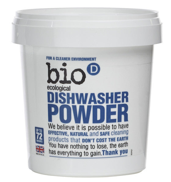 Bio-D Dishwasher Powder. New improved formula, now 3 times more concentrated - SustainTheFuture - 2