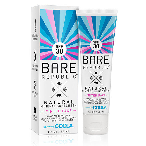 Bare Republic Natural Mineral Tinted Face Sunscreen SPF 30. Idea for light/medium skin tone. - SustainTheFuture - 2