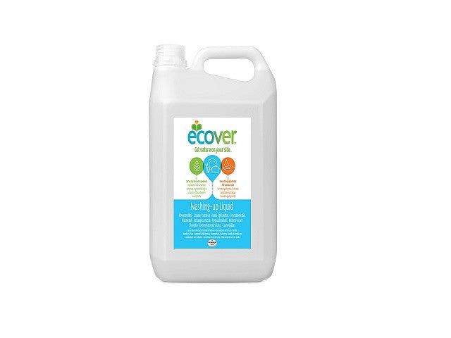 Ecover Washing-up Liquid Camomile & Marigold Refill 5L. Fresh perfume from plant - SustainTheFuture - 1