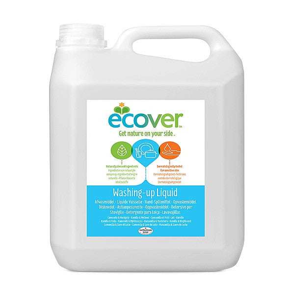 Ecover Washing-up Liquid Camomile & Marigold Refill 5L. Fresh perfume from plant - SustainTheFuture - 2