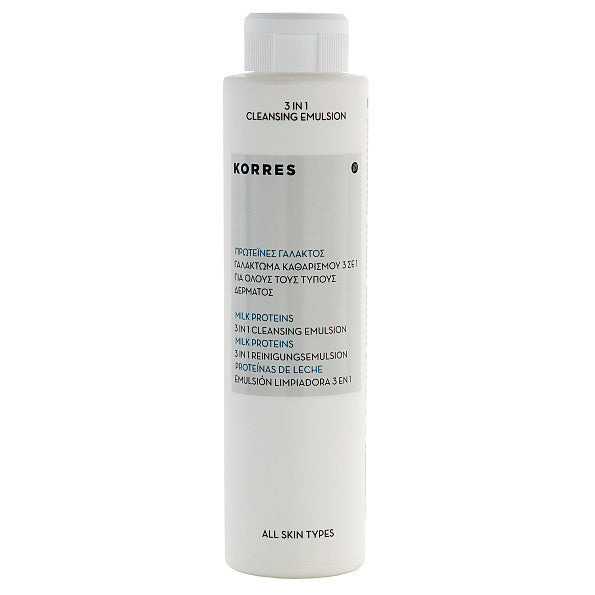Korres Milk Proteins 3 in 1 Cleansing Emulsion. Dermatologically tested Opthalmologically tested - SustainTheFuture - 2