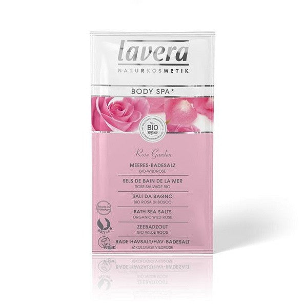 Lavera Body Spa: Organic Wild Rose Bath Sea Salts. Relax with these gorgeous bath salts - SustainTheFuture - 2