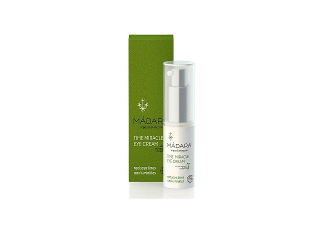 Madara Time Miracle Anti Aging Eye Cream. For all skin types Ecocert organic certified Vegan - SustainTheFuture - 1