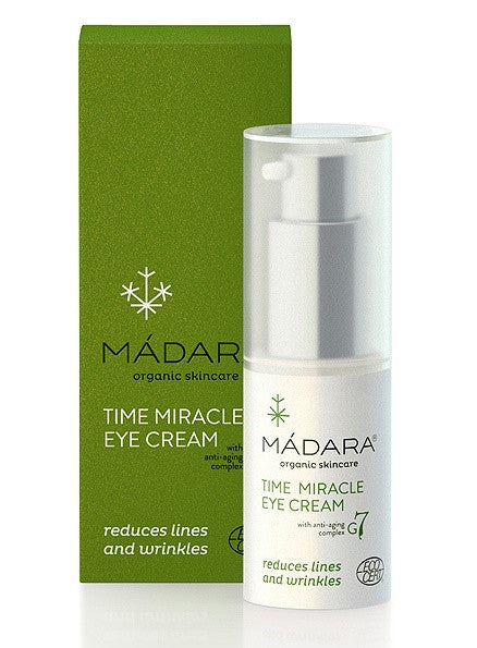 Madara Time Miracle Anti Aging Eye Cream. For all skin types Ecocert organic certified Vegan - SustainTheFuture - 2