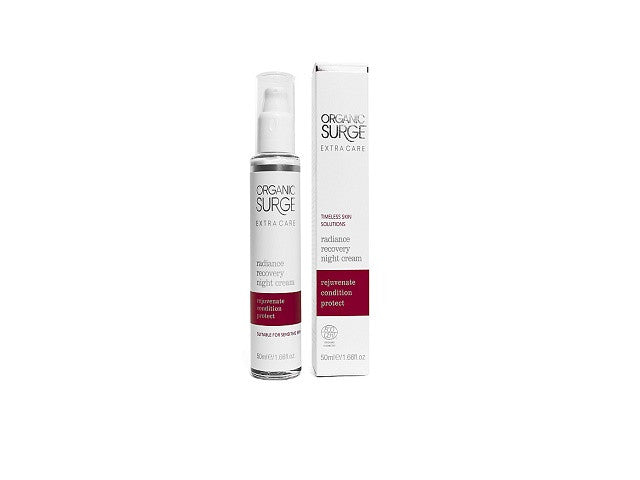 Organic Surge Extra Care Radiance Recovery Night Cream. Enriched with natural Safflower Oil - SustainTheFuture - 1