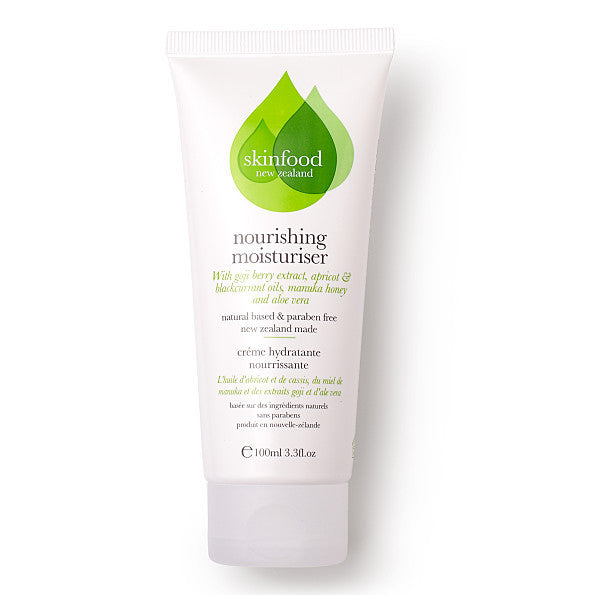 Skinfood Nourishing Moisturiser. Made in New Zealand Fully recyclable packaging ECOCERT - SustainTheFuture - 2