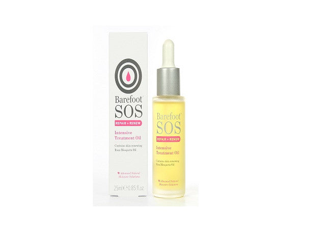 Barefoot SOS Repair & Renew Intensive Treatment Oil. Smooth away wrinkles and fine lines - SustainTheFuture - 1