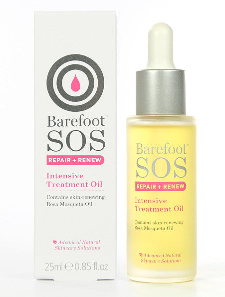 Barefoot SOS Repair & Renew Intensive Treatment Oil. Smooth away wrinkles and fine lines - SustainTheFuture - 2