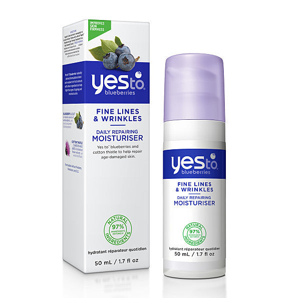 Yes To Blueberries Daily Repairing Moisturiser. Targets fine lines and wrinkles 97% Natural - SustainTheFuture - 2