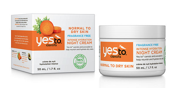 Yes To Carrots Fragrance Free Intense Hydration Night Cream. Dead Sea Minerals - SustainTheFuture - 2