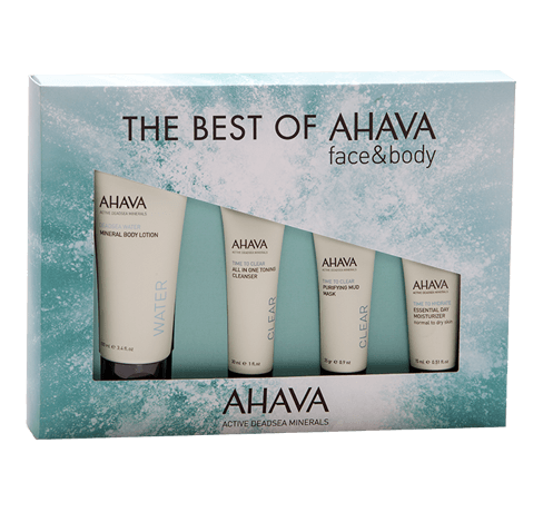 THE BEST OF AHAVA STARTER KIT. A selection of AHAVA's best sellers for body and face. - SustainTheFuture - 2