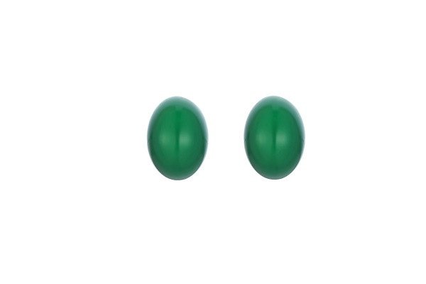 Almight glory vert Earring. White cultured pearl and Malaysian jade doube sided Pearl Earring stud - SustainTheFuture - 1