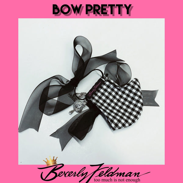 Bow Pretty Check Face Mask