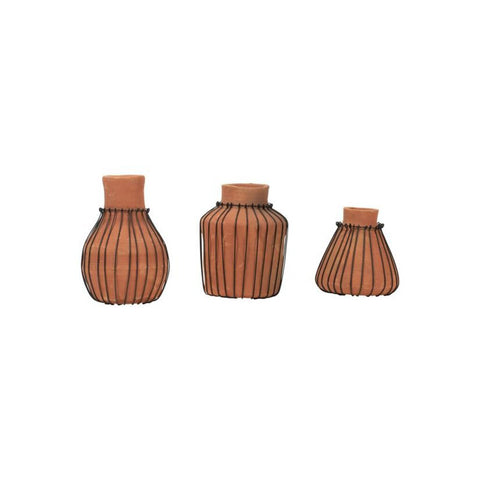 Terracotta Bud Vases - Single Vase