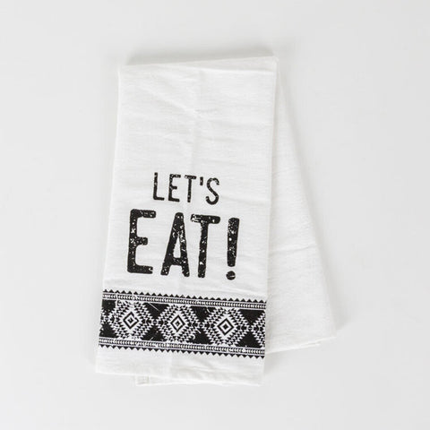 'Let's Eat' Tea Towel
