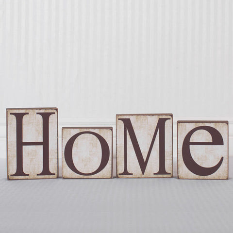 'Home' Wood Block Decor Set
