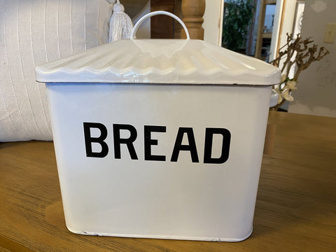 Enamel Metal Large Bread Box