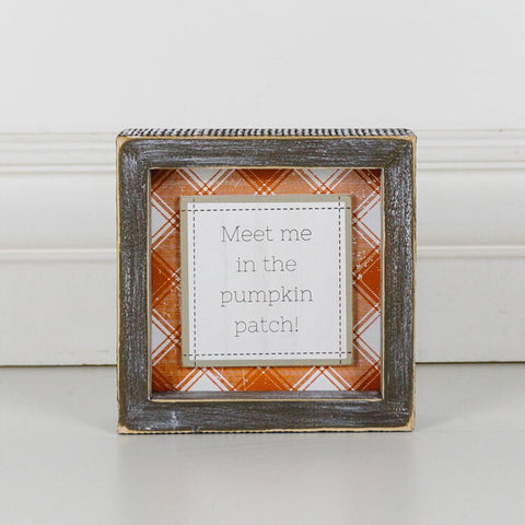 Pumpkin Patch Wood Framed Sign