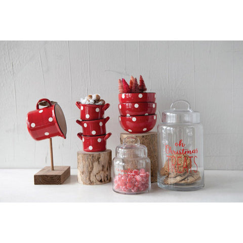 "Oh Christmas Treats 12"" Glass Jar"