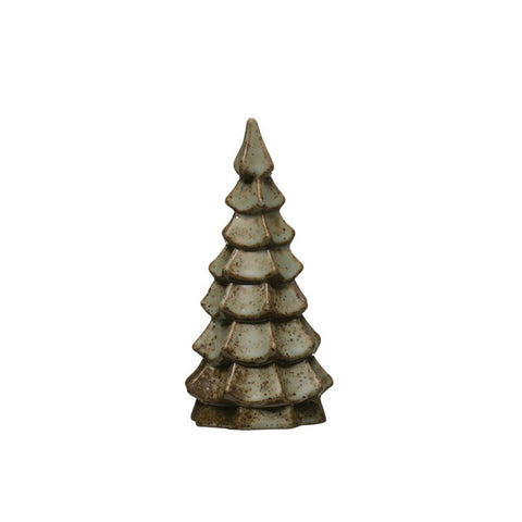 Stoneware Tree with Reactive Glaze 6 3/4""
