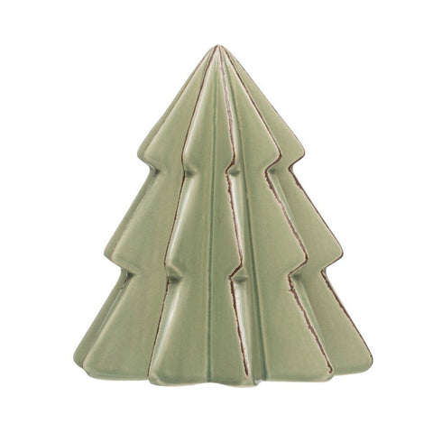 Stoneware Tree, Mint Color 6""