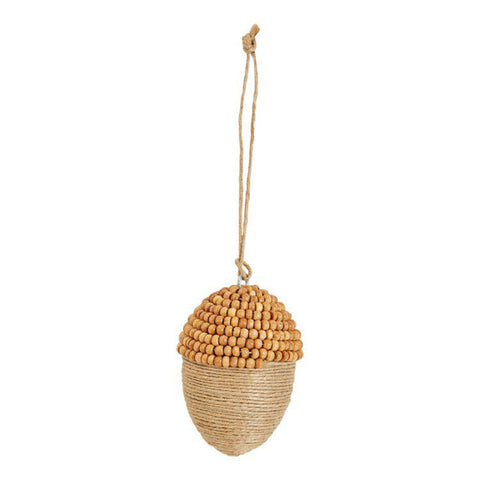 Jute & Wood Bead Acorn Ornament