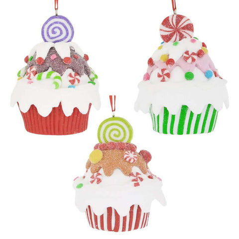 Fun Decorated Cupcake Ornament, 3 1/4""