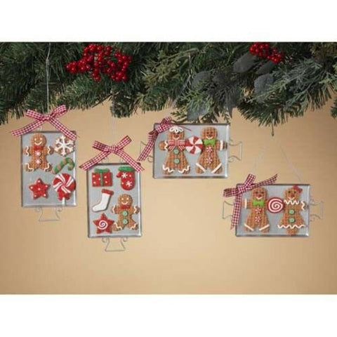 Gingerbread+Sugar Cookies Metal Pan Tray Christmas Ornament