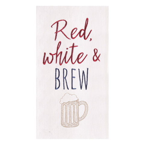 Red, White and Brew Towel