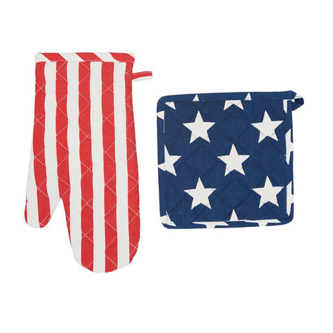 Stars and Stripes Pot and Oven Holder Set