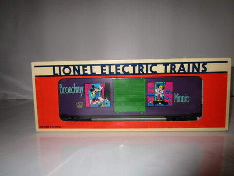 "Lionel Electric Trains ""Broadway Minnie"" Disney Boxcar 6-19271 In Box"