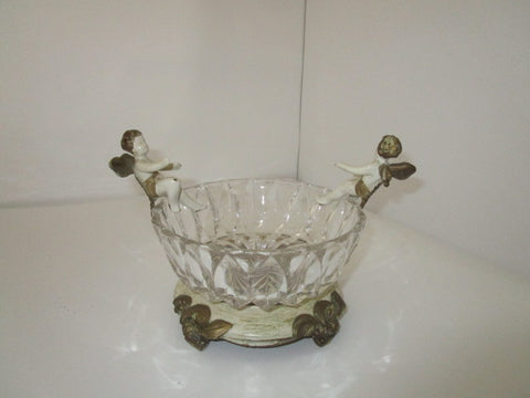DAV Art NY-Cherubs Angels Glass Crystal Bowl