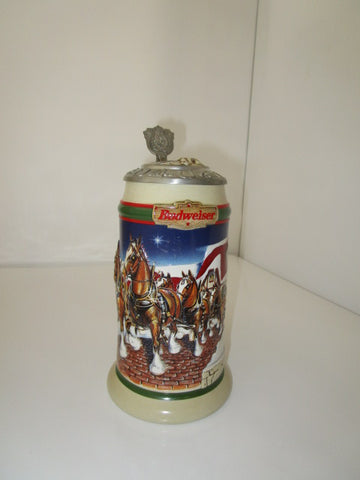 BUDWEISER COLLECTIBLE HOLIDAY STEIN