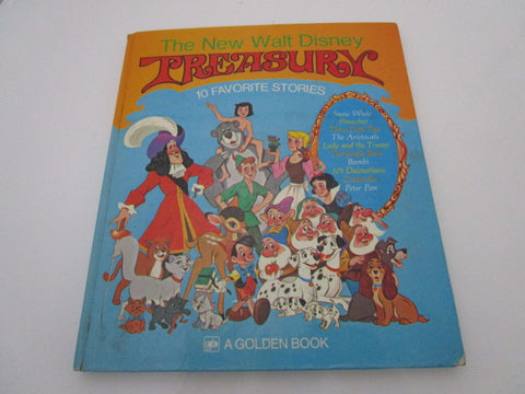 """The New Walt Disney Treasury"" 1971 Hardcover A Golden Book 10 Favorite Stories"
